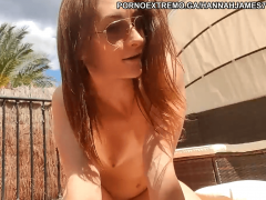 Hot brunette babe live cam at resort